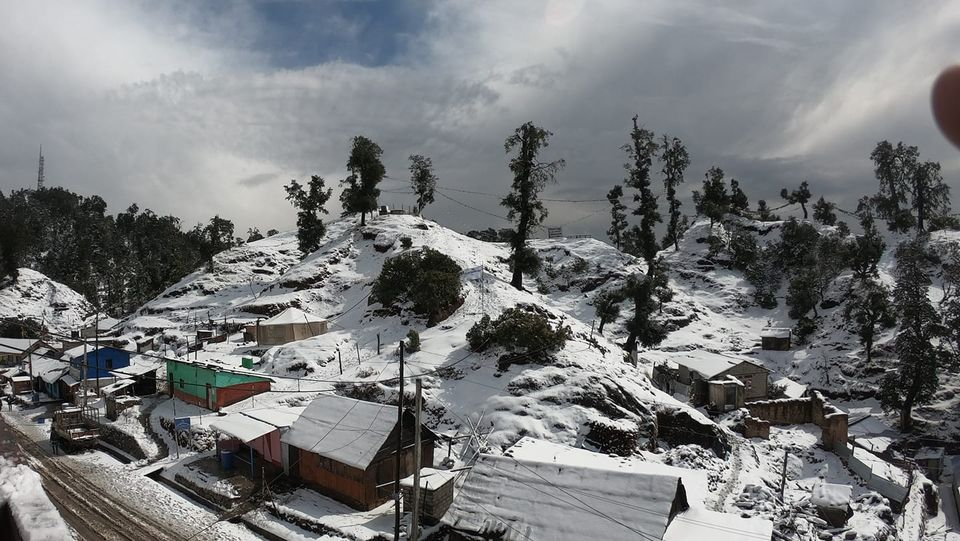 Daman in Nepal with snowfall in winter