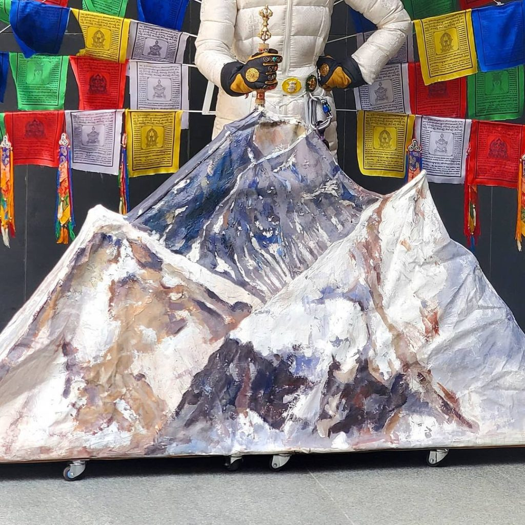 The mountain prop which is a part of Nepal's outfit for the Miss Universe 2020 national costume show